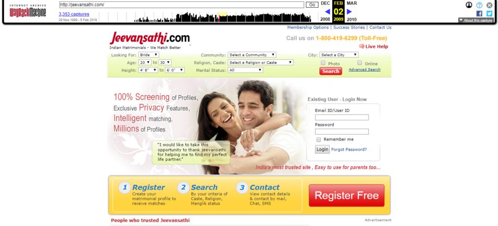 Jeevansathi.com in 2009
