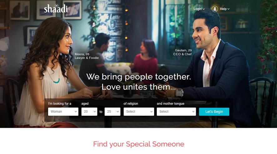 Shaadi.com in 2019