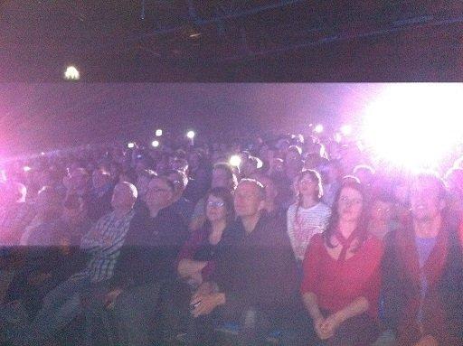 mobile flash taking picture movie theatre