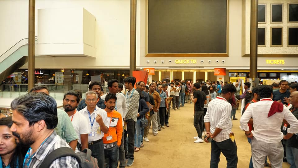Long lines at Bangalore film fest